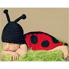 Hot wholesale childrens clothing Ladybug Photography hat baby one hundred days a generation of fat