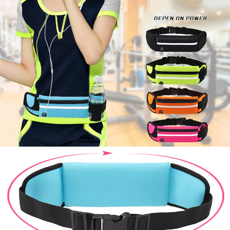Unisex Outdoor Running Waist Bag Waterproof Anti-theft Mobile Phone Holder Invisible Kettle Belt Belly Bag Gym Fitness Bag