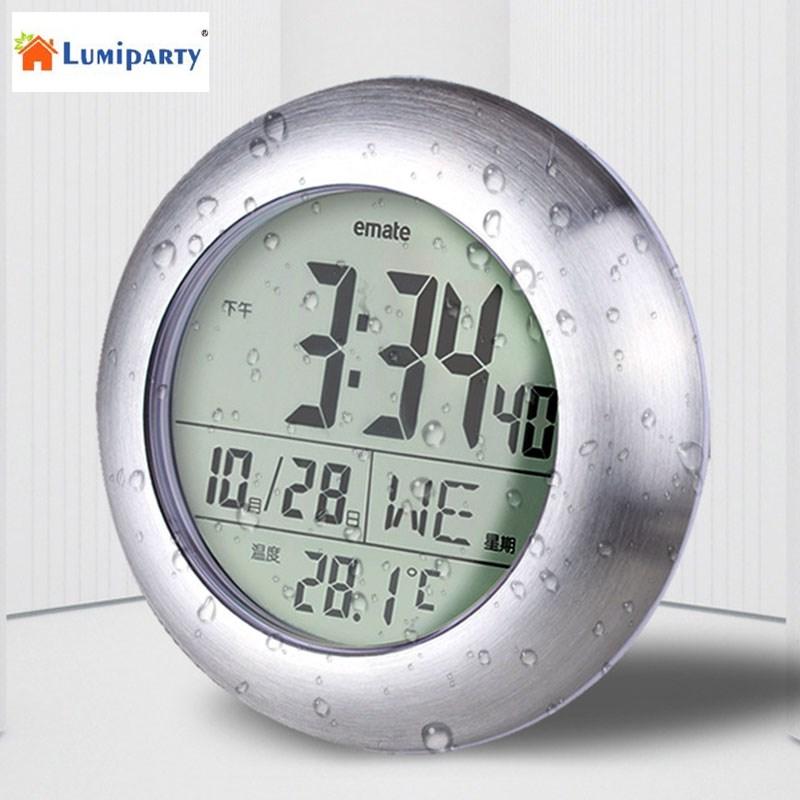 LumiParty Multifunktionale Wasserdichte Temperatur Digitaluhr Fr Badezimmer Dusche Kche Wohnzimmer 30China Mainland