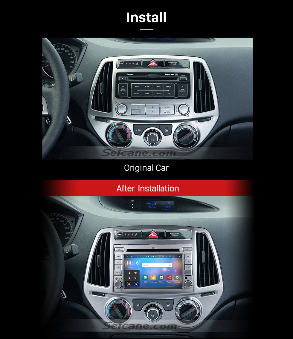 8 Inch Android 511 Radio For 2008 2013 Hyundai I20 With Bluetooth Head Unit Wiring Diagram After Installation 1024600