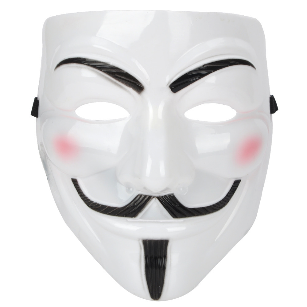 V for Vendetta Anonymous Guy Fawkes Plastic Mask White-in Party ...