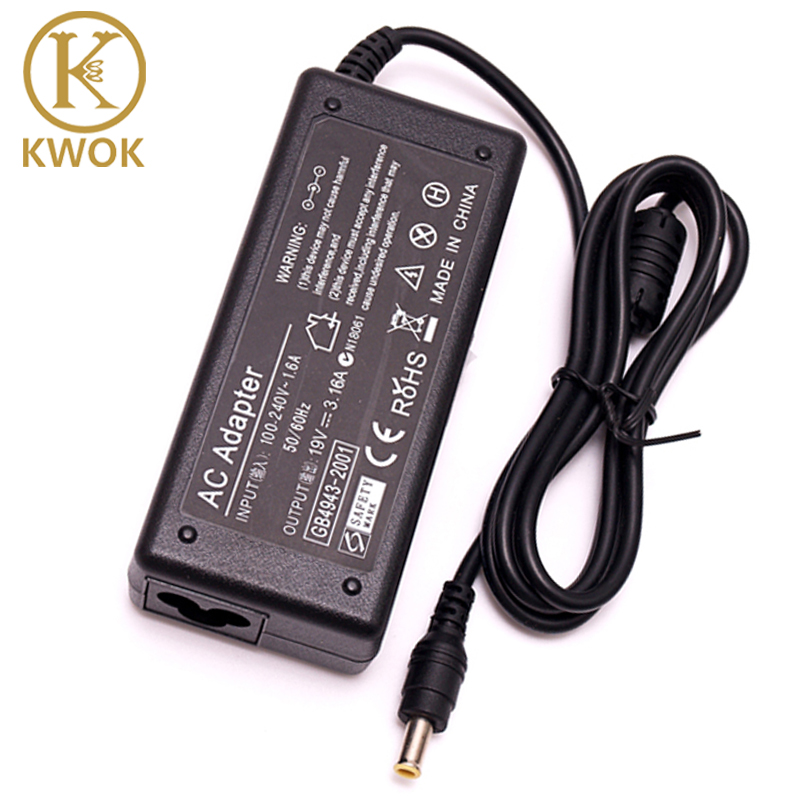 19 V 3.16A 5.5 * 3.0mm Laptop Adapter Oplader Voor Samsung Notebook R58 R23 R540 R429 R23 RV411 R440 R430 R528 R478 Voeding
