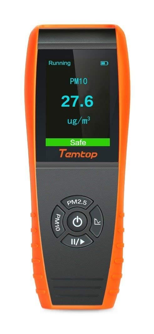Temtop Air Quality лазерный частиц детектор профессиональный измеритель точного тестирования для PM2.5/PM10 TFT Цвет ЖК-дисплей Дисплей P600