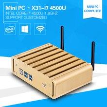 XCY core I7 Мини-ПК Окна 10 4500U Dual Core 1.8 ГГц безвентиляторный Дизайн корпус из алюминиевого сплава Поддержка Беспроводной клавиатуры и Мыши