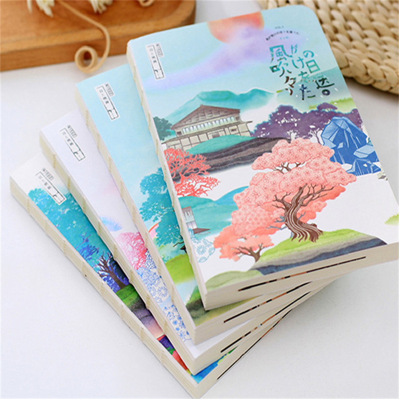 HOT Blank Sketchbook Drawing Diary Notebook Paper 80 Sheets Sketch Book Graffiti Painting Printed Office School Supplies Gift