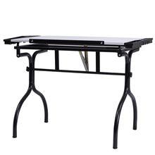 Black Steel Drafting Table