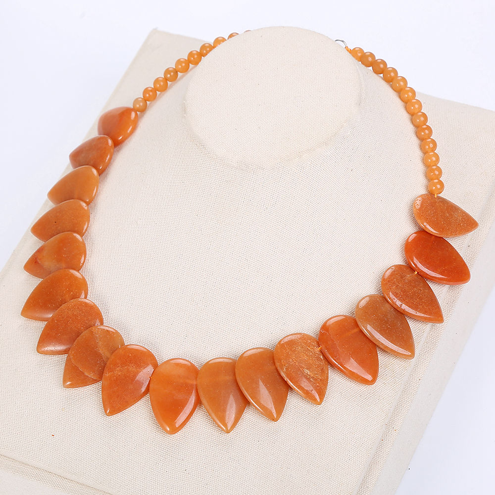 Red Chalcedony Leaf Large Necklace Women Accessories Choker Flower Charm Jewelry Collane Pietre Crystal Pendant Necklace Gothic unique gothic punk sexy black lace pendant necklace fashion trend women choker graceful joker halloween jewelry accessories 2018