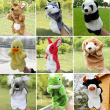Plush Hand Puppets Rabbit Panda Cow Dog Frog Doll Fantoche Parent child Interactive Plush Anima Soft