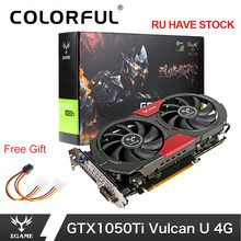 Colorful GTX 1050Ti NVIDIA Kartu Grafis GeForce IGame 4 GB GDDR5 128bit PCI-E X16 3.0 GTX1050 Ti PC Game Video kartu(China)