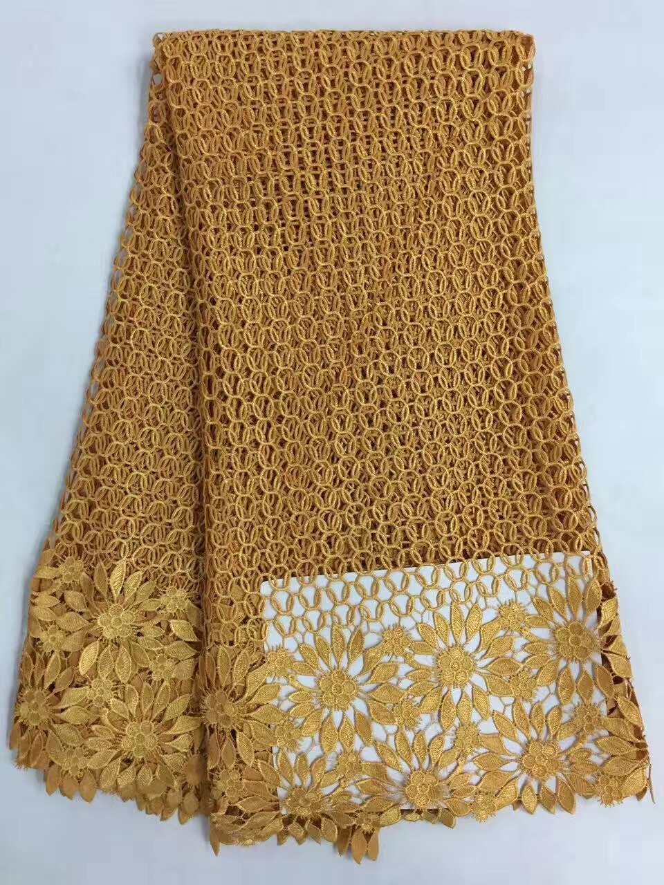 RL110801 핫 아프리카 폴리 에스테르 나이지리아 guipure 코드 레이스, 고품질 수용성 레이스 직물 웨딩 드레스 5y / lot