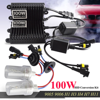 2Pcs 12V 100W Bulb H7 Hid Conversion Kit Xenon ballast lights 8000K 6000K Canbus Xenon h7 h1 h4 bi xenon H3 light 9005 HB3 9006