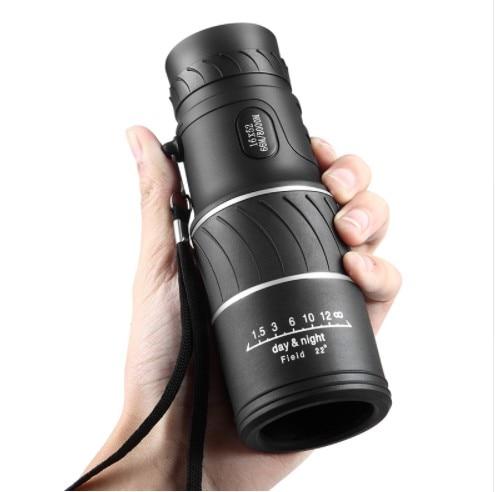 Высокое разрешение карман монокуляр 16x52 фокус оптические линзы ручной день Ночное видение путешествия телескоп Зрительная труба бинокль
