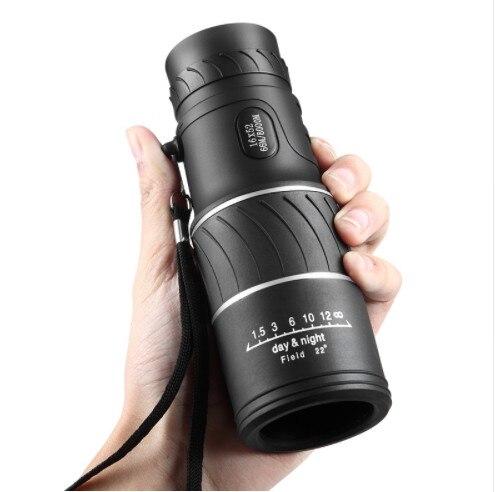 High Definition taschenfernrohr 16x52 Fokus Optic Linse handheld Tag Nachtsicht Reise Teleskop spektiv Fernglas