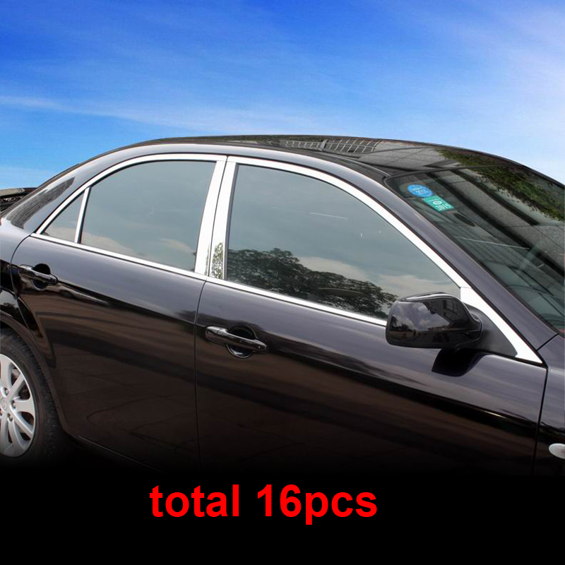 16pcs For Mazda 6 2003 2012 Car Window Trim Stainless
