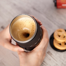 Coffee Cup Creative camera model Mugs Double Insulated Home Office travel Cup Automatic Electric Coffee Milk Mixing Cup