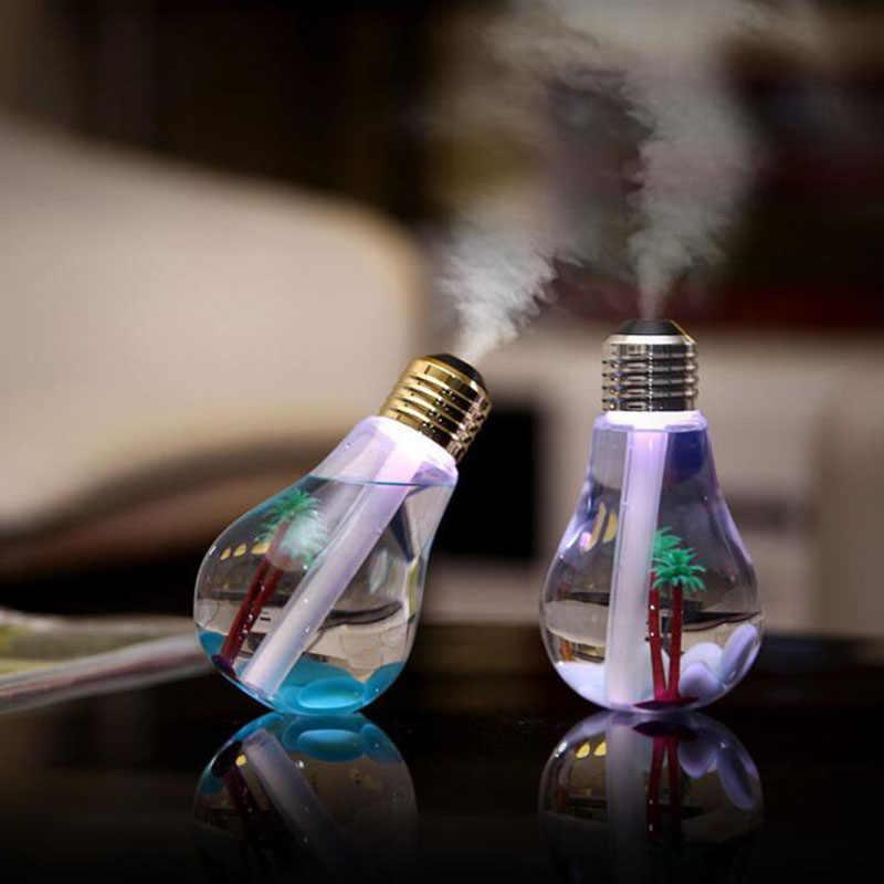 2019 дропшиппинг Мини Usb увлажнитель воздуха Арома диффузор лампочка увлажнитель лампа для красочных