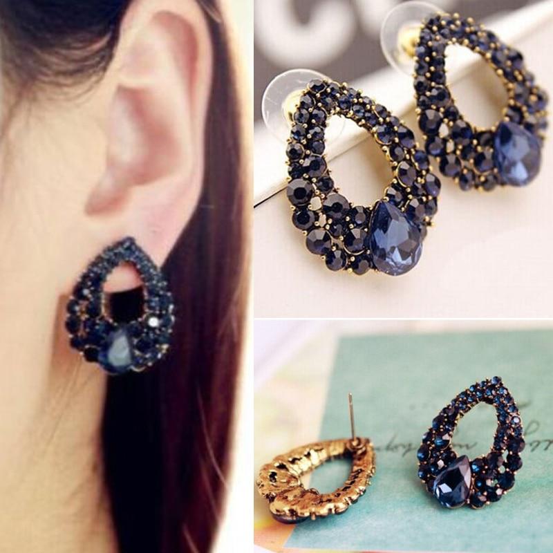 Klassische Blaue Strass Luxus Ohrring Frauen Kleid Party - Modeschmuck - Foto 5