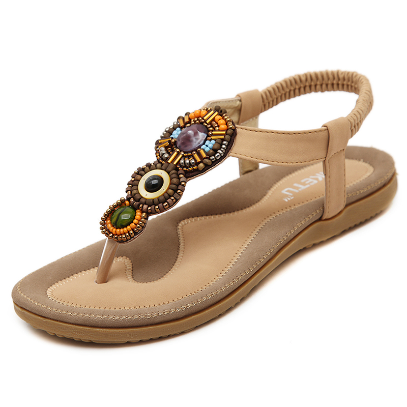 Women Sandals Gladiator Sandals Women Shoes Summer Bohemia Flip Flops Flats Sandalias Mujer Ladies Shoes Fashion Female Footwear summer women sandals elastic band gladiator sandals women beach shoes bohemia wedges shoes sandalias mujer ladies shoes or876610