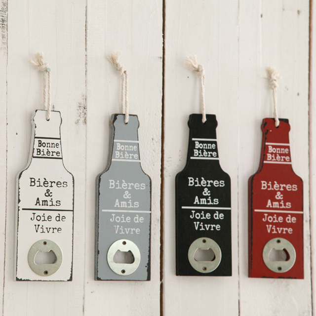 Creative American Country Wall Bottle Opener Beer Shaped Wall Amazing Decorative Wall Mount Bottle Opener