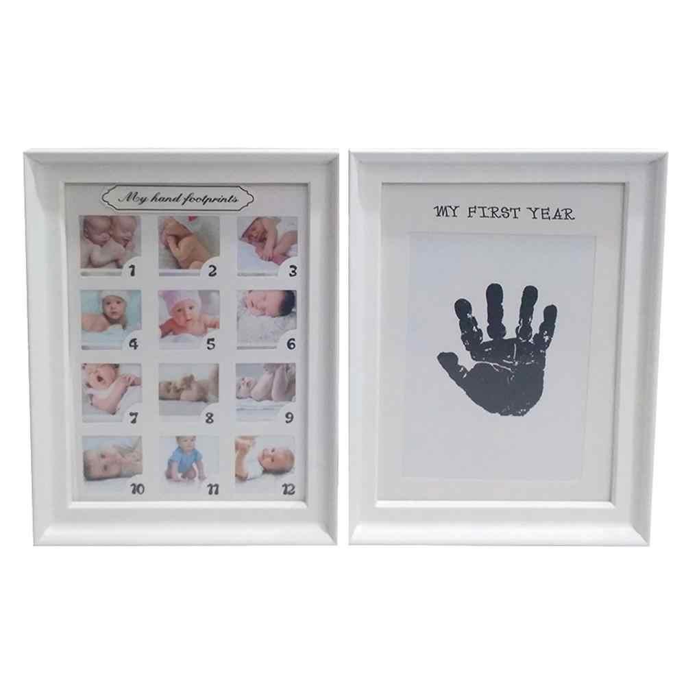 Kit de cadre Photo empreinte main bébé pour nouveau-né garçons filles tampon d'encre tactile propre cadre Photo empreinte bébé