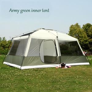 Image 4 - Hoge Kwaliteit 10 Personen Double Layer 2 Kamers 1 Hal Grote Outdoor Familie Party Camping Tent In Goede Kwaliteit Met grote Ruimte