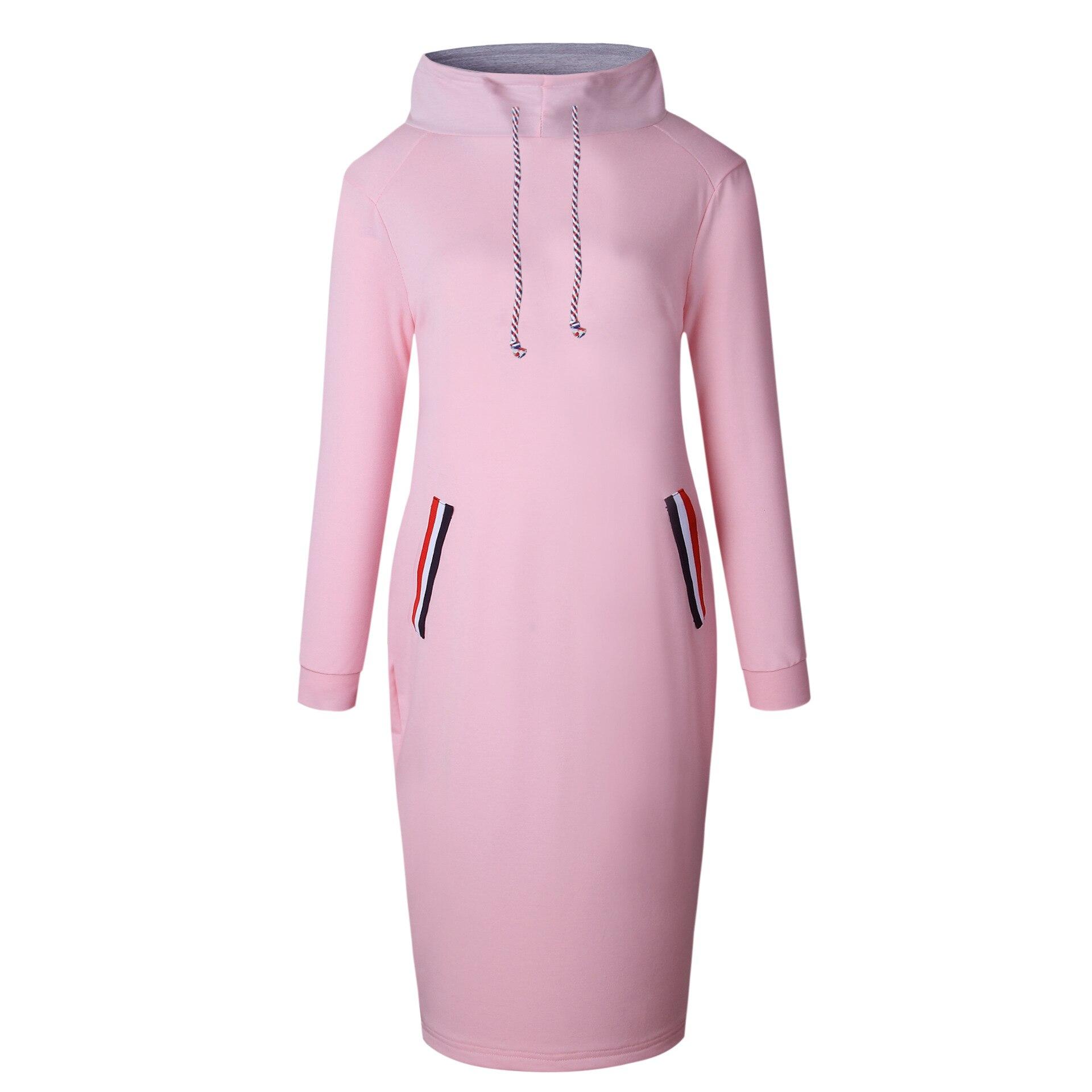 Hoodies Fleece Sweatshirts Coat 2018 Autumn Winter Warm Women Turtleneck Design Long Sleeve With Hood Long Outerwear Plus Size