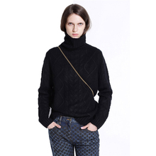 2019 New Female Cashmere Sweater Women Twist Pullover Long Sleeve High Collar Spring Autumn Knitted N676