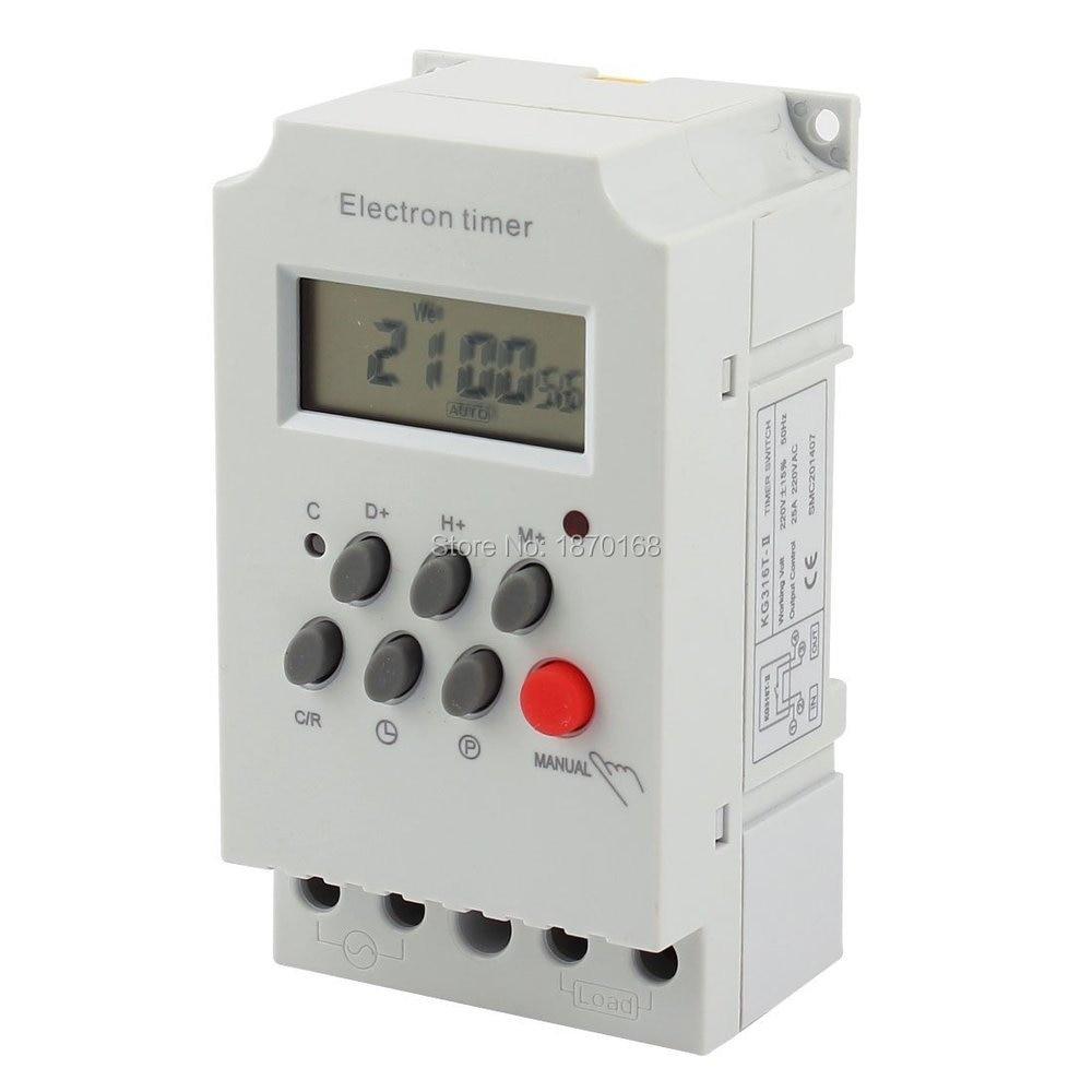 цена на 220 V diprogram Timer elektronik saklar KG316T-II