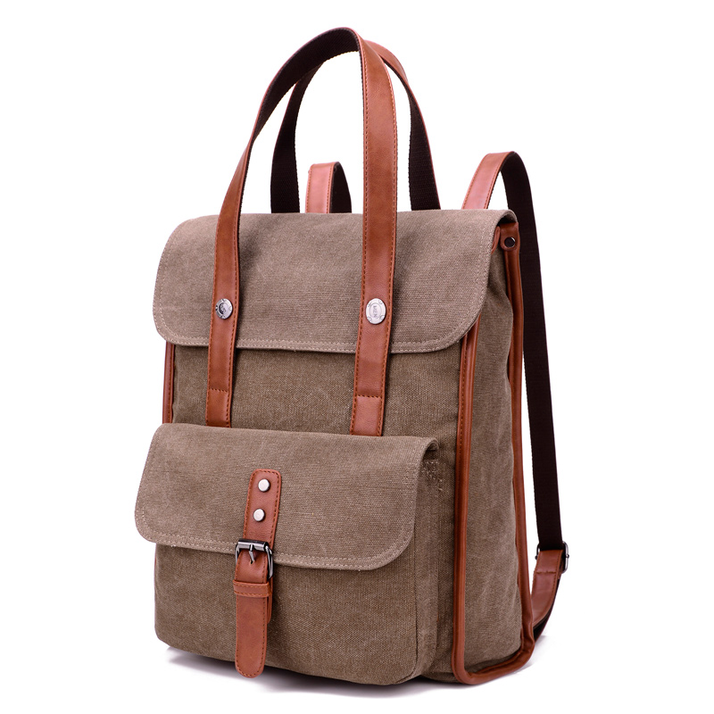 Aliexpress.com : Buy Korean Canvas Belt Backpack Men School Bags ...