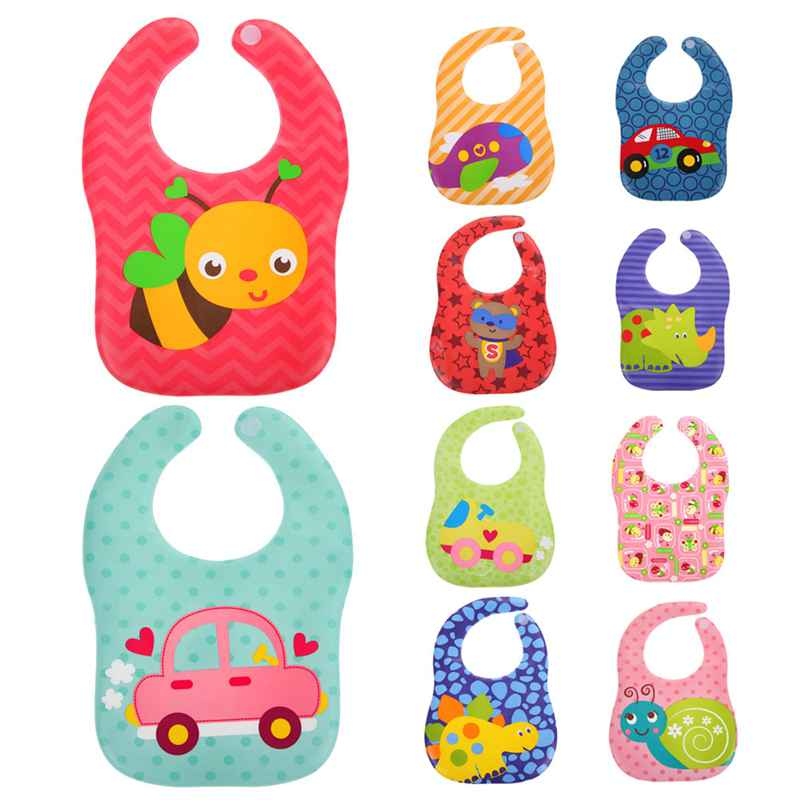 Newest Unisex Kids Baby Bibs Burp Cloths Lunch Bibs Animals Cartoon Pattern Saliva Towel Waterproof Bibs 2 layers newborn cartoon colorful baby boy girl bibs infant soft cotton toddler animal burp cloth waterproof saliva scarf towel