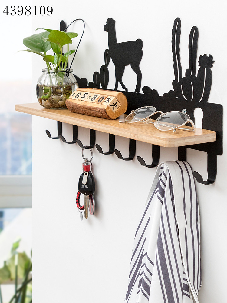 Multifunctional Hook Wall Hanging Coat Hook Creative Porch Storage Rack 6-8 Hook High Quality Wrought Iron Bathroom Door Hanger