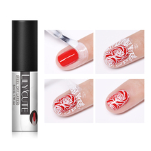 цена LILYCUTE 5ml Nail Gel Liquid Tape Peel Off White Odorless Quick Drying Nail Edge Skin Care Gel Polish Nail Manicure Tool