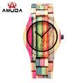 Bambú completo Reloj de Las Mujeres de Lujo A Estrenar de Reloj de Cuarzo Mujeres Del Reloj de Reloj de Madera de Bambú de Madera Natural Con Banda De Bambú 2016