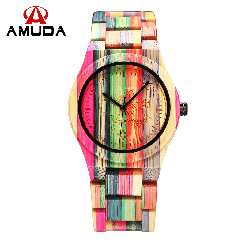 Full Bamboo Watch Women Luxury Brand New Natural Quartz Wooden Bamboo Watch Women Clock Wood Watch