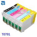 T0791 Refillable ink cartridge for EPSON Stylus Photo 1400/PX700W/PX800FW/P50/PX830FWD 1500W Artisan 1430 printer