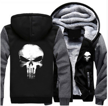 Latest Black & Grey Winter Thicken Jacket Fleece Sweatshirts Cosplay Coat Zipper Hoodie