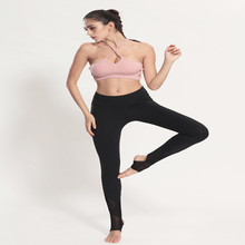 New Women's Outdoor Fitness Pants high Stretch Leggings Yoga and Running Quick Dry Slim Breathable Mesh Foots Yoga Pants