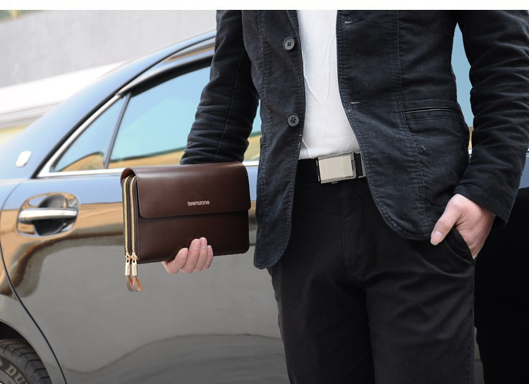 Cheap leather man clutch