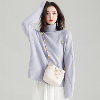 2018 Fashion Winter Women Sweater Turtleneck Pullover Female Warm Loose Twist Pull Jumpers Oversized Knitted Sweaters Christmas