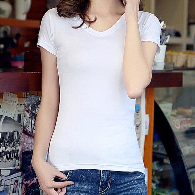 01c9dbdbfcf Hot Sale Fashion Women t-shirt Cotton Short Sleeve tees tops solid O-neck t  shirt Plus Size feminina women clothing tshirts