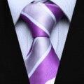 "Party Wedding Tie TS30P7 Purple Pink Stripe Slim 2.75"" Silk Jacquard Woven Men Tie Necktie"