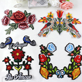 10 pcs/set Large embroidered birds and flowers embroidery Iron-On Patches For Clothes Garment Applique DIY Accessory