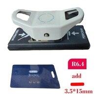 3.5X15 مللي متر حفرة لكمة و R6.4 الزاوية لكمة ل PVC بطاقة ، صور ، الورق؛ 2 في 1 لكمة القاطع ورقة اللكمات تخفيض جهد