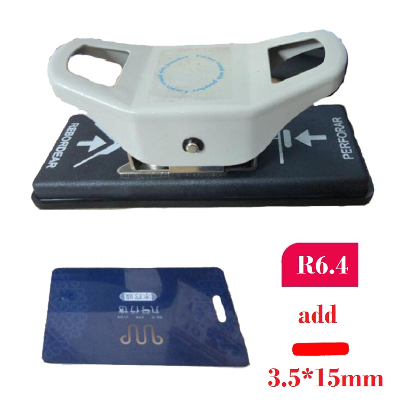 3.5X15mm Hole Punch And R6.4 Corner Punch For PVC Card, Photo, Paper; 2 In 1 Punch Cutter Paper Punches Reduced Effort