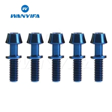 Wanyifa 5Pcs M4x15.3mm Cone Head with Washer for Bicycle Brake 5 Color