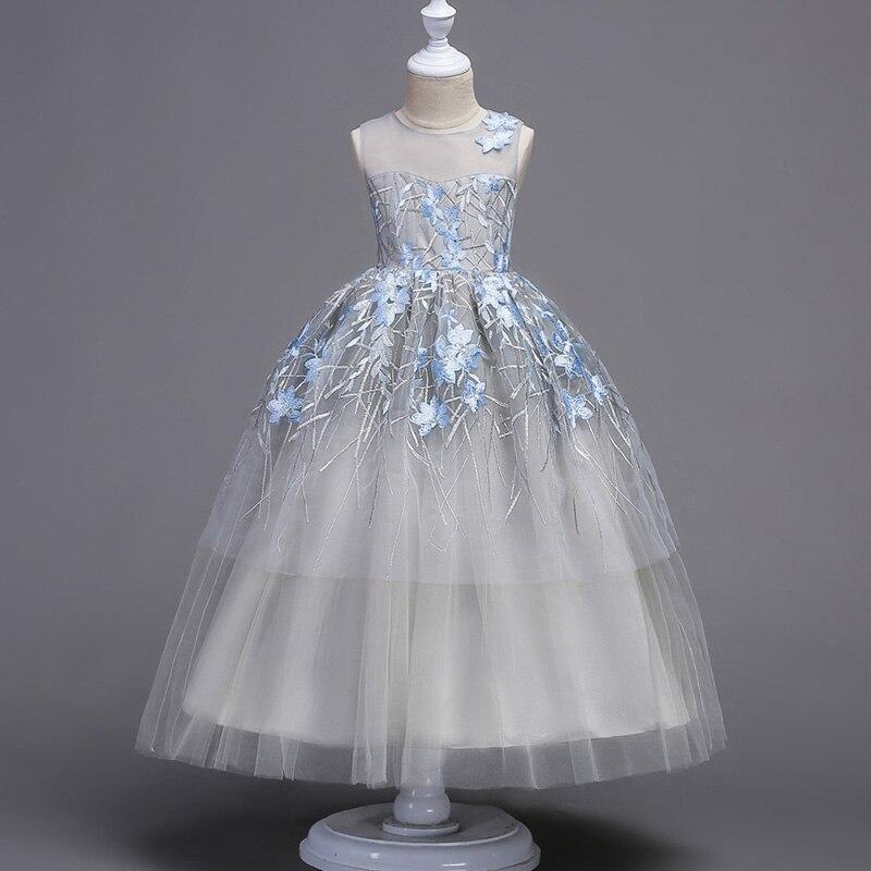 2019 mode été fille robe élégante broderie Tutu princesse presse pour enfant filles fête robe de mariée vêtements - 4