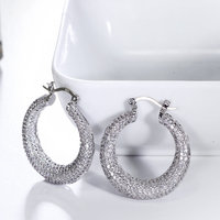 Interesting And Nice Hoop Earrings For Women Wholesale Online Shopping Drop Shipping Zirconia Brincos De Argola