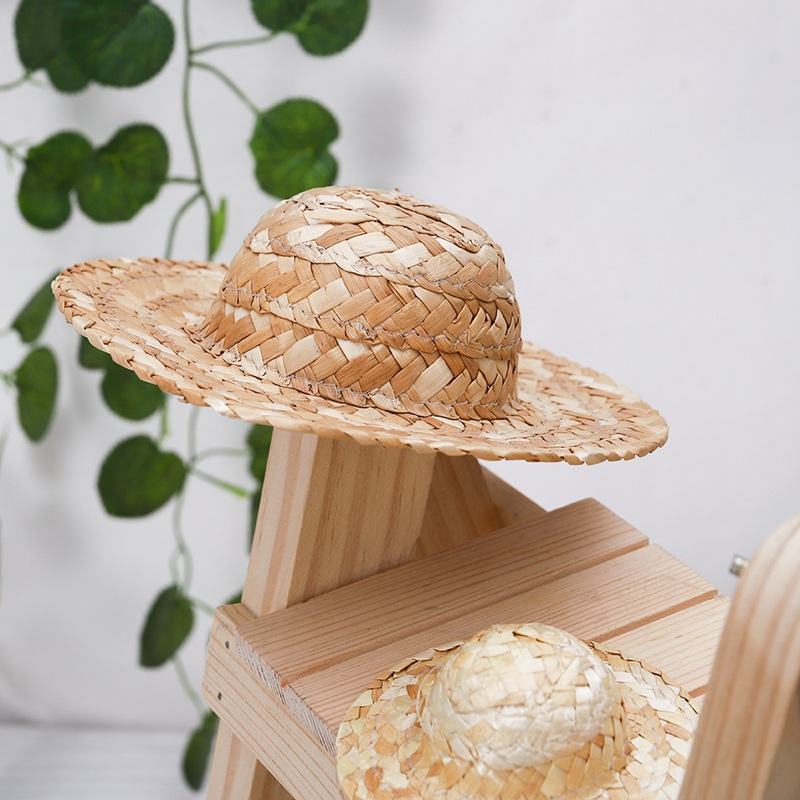 Children's DIY Painting Grass Hat Decoration Creative Art For Doll Accessories Diameter 9-20cm(China)