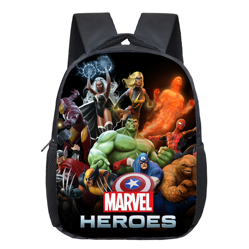 12 Inch Avengers Iron Man Hulk Captain America Kindergarten Backpack Kids School Bags For Boys Daily Backpacks Children Bookbag famous brand school backpack the avengers captain america iron man fashionable laptop backpacks high quality leather