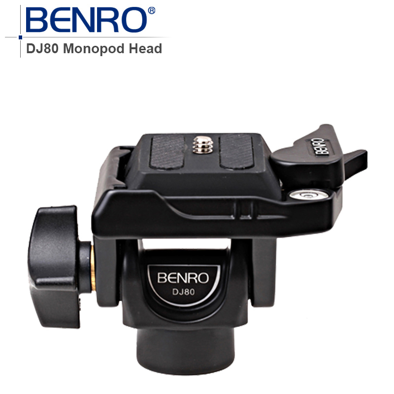 BENRO Professional Monopod Head DJ80 DJ-80 Tilt Patented Dual-Lock Quick Release System Aluminum Head For Monopod benro s4 video head